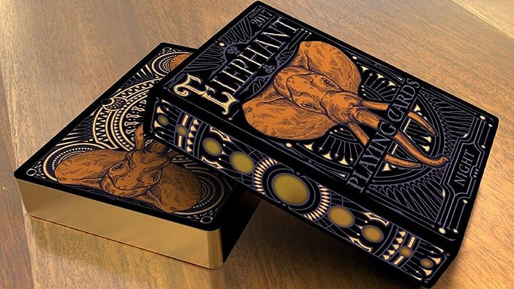 Limited Edition Elephant Playing Cards - Night - magic