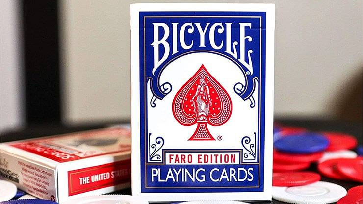 Gilded Bicycle Faro  Playing Cards - magic