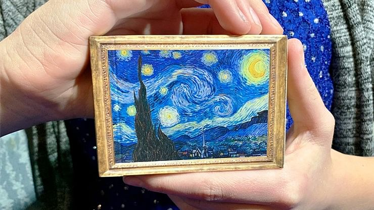 Gilded Vincent van Gogh The Starry Night Playing Cards