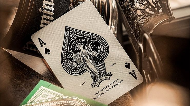 Limited Edition Green Tycoon Playing Cards