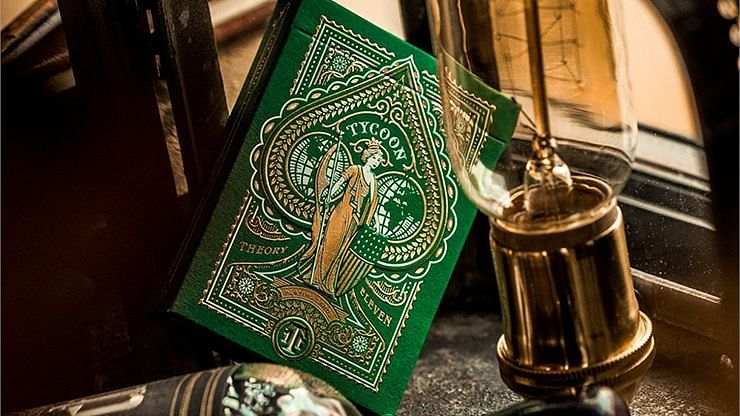 Limited Edition Green Tycoon Playing Cards - magic