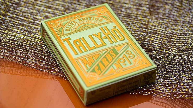 Limited Edition Olive Tally Ho Playing Cards - magic