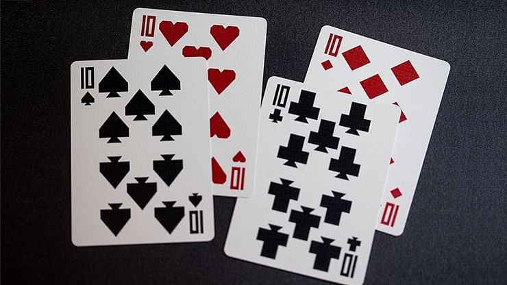 Red Labyrinth Playing Cards