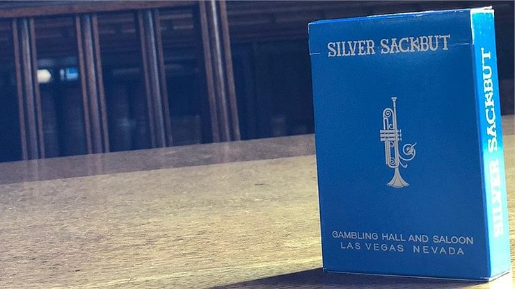 Silver Sackbut Playing Cards V2 (Cyan)  - magic