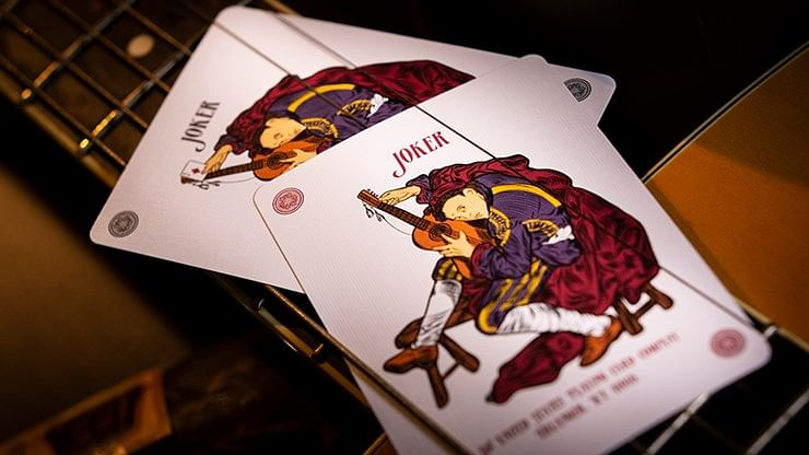 Six Strings Guitar Playing Cards