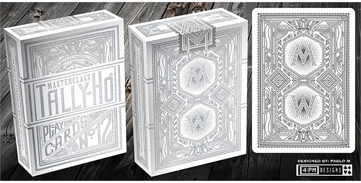 Tally-Ho Chrome White Masterclass Playing Cards