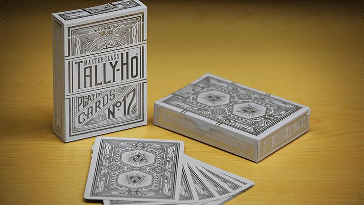 Tally-Ho Chrome White Masterclass Playing Cards - magic
