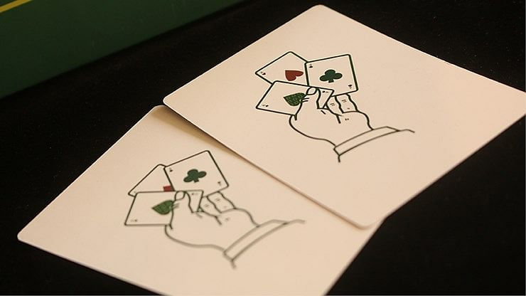 The Expert at the Card Table  Playing Cards (Green)