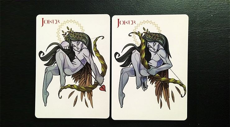 Theos Green Playing Cards