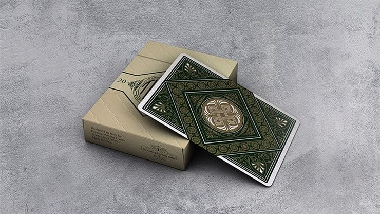 Theos Green Playing Cards - magic