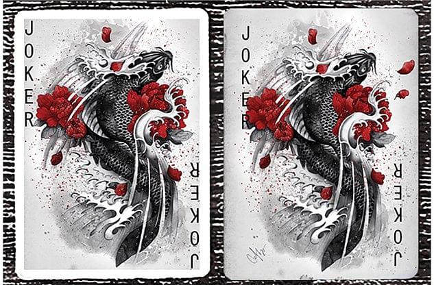 Turning Japanese Playing Cards
