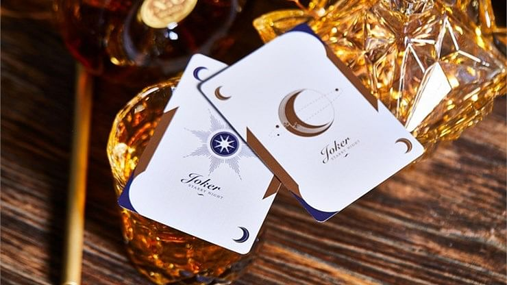 Violet Luna Moon Playing Card