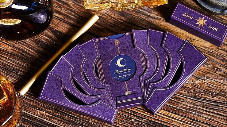 Violet Luna Moon Playing Card - magic
