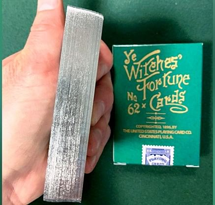 Ye Witches' Fortune Gilded Playing Cards - magic