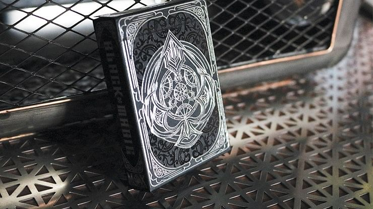 Gilded Edition Black Magic Playing Cards - magic