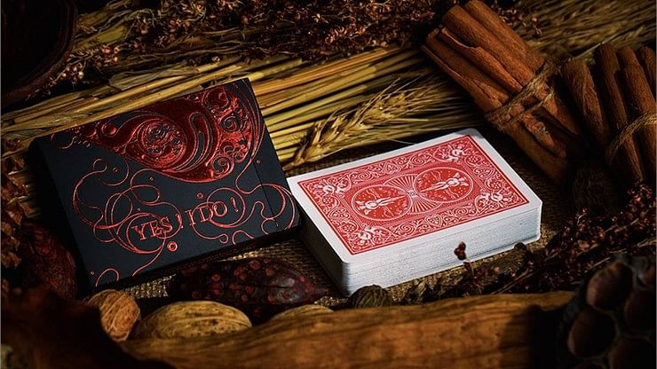 Love Promise of Vow (Red) Playing Cards - magic