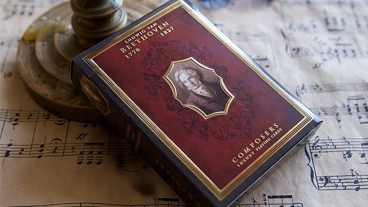Composers Ludwig Van Beethoven Playing Cards - magic