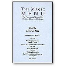 Magic Menu Issue 63 - magic