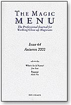 Magic Menu Issue 64 - magic