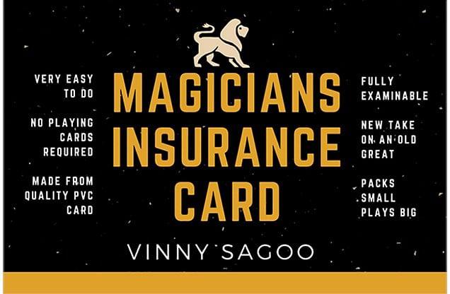 Magicians Insurance Card - magic