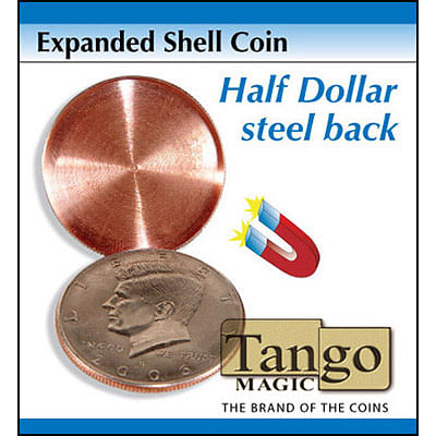 Tango Expanded Magnetic Shell - Half Dollar  - magic