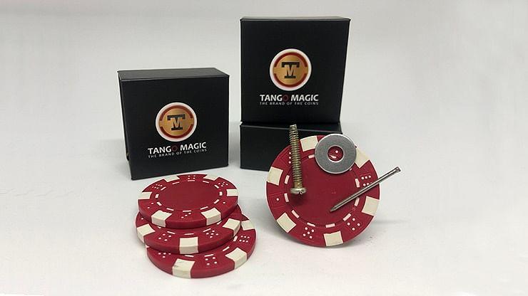 Magnetic Poker Chip plus 3 regular chips - magic