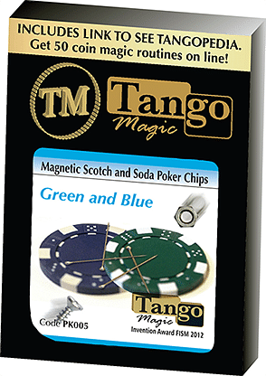 Magnetic Scotch and Soda Poker Chips - magic