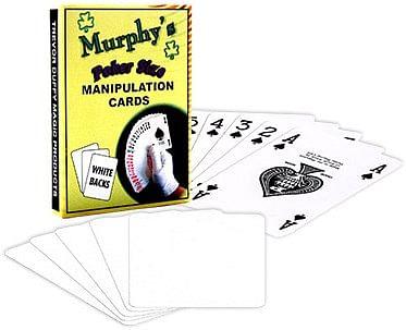 Manipulation Cards-POKER SIZE/WHITE BACK - magic