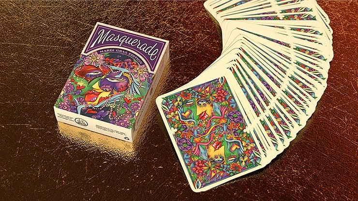 Masquerade Mardi Gras Edition Playing Cards - magic