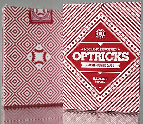 Optricks Deck — Animated Playing Cards (Red Edition) - magic