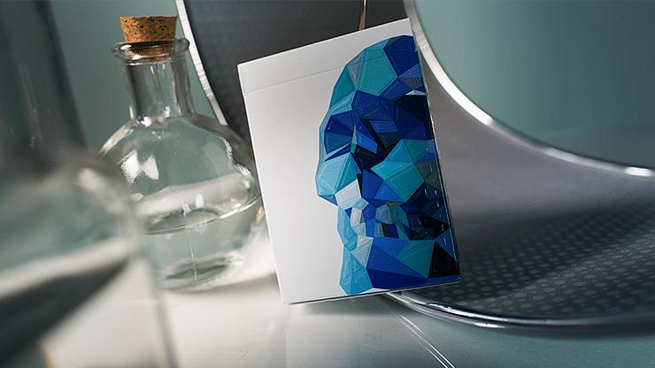 Memento Mori Blue Playing Cards - magic