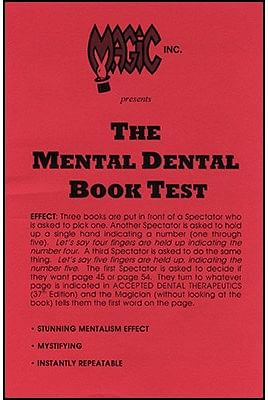 Mental Dental Book Test - magic