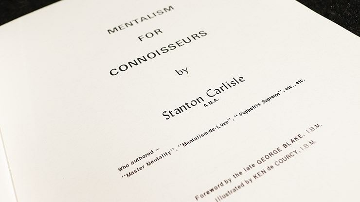 Mentalism for Connoisseurs