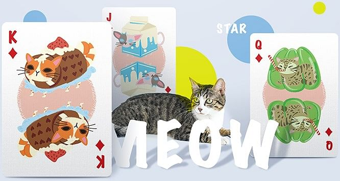 Meow Star Knitted Sweater Playing Cards