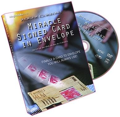 Miracle Signed Card In Envelope - magic