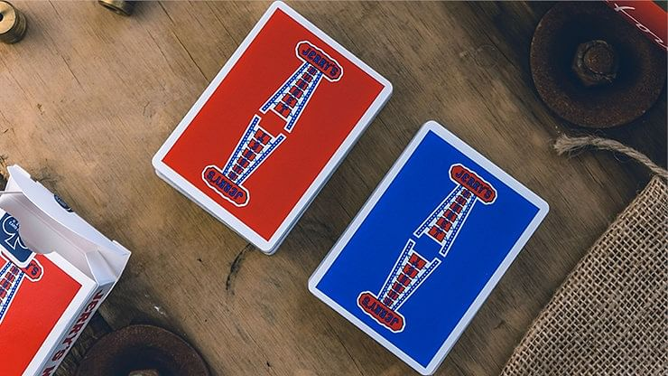 Jerry's Nugget Playing Cards (Modern Blue - Red/Blue)