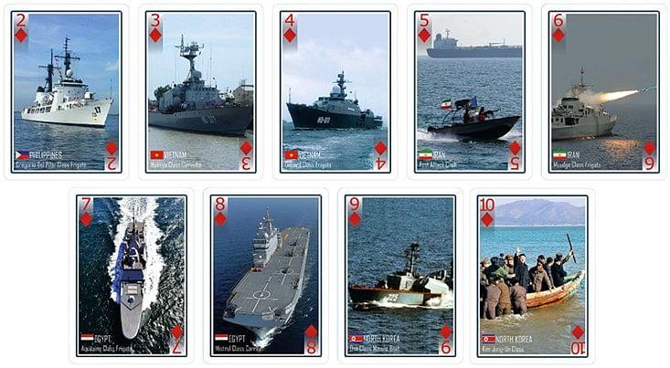 Modern Warships Playing Cards
