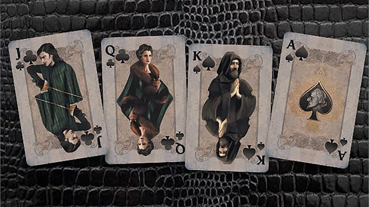 Montague vs Capulet Playing Cards (Deep Red)