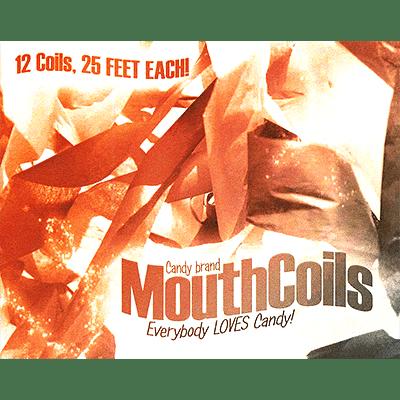 Mouth Coils 25 ft (Black/ Orange) - magic