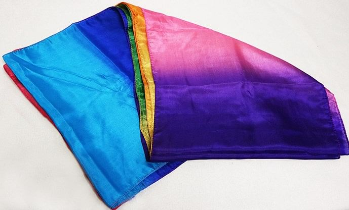 Multicolored Silk Streamer 12 inch