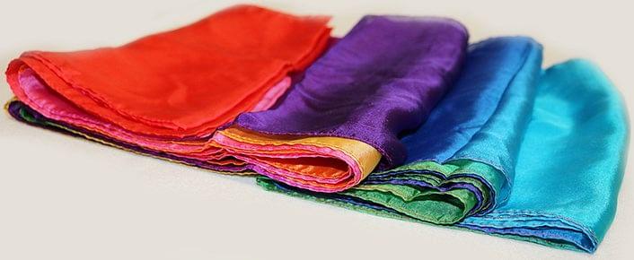 Multicolored Silk Streamer - 30 foot long