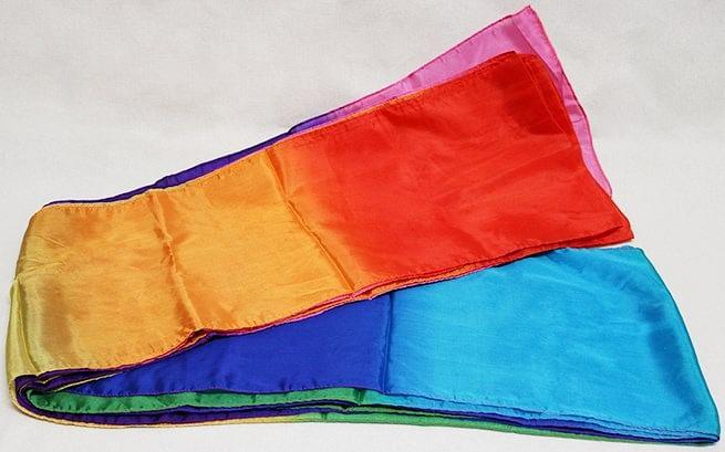 Multicolored Silk Streamer - 30 foot long - magic