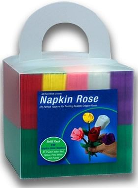 Napkin Rose Cube - magic