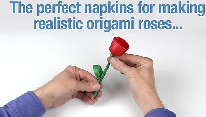 Napkin Rose Kit