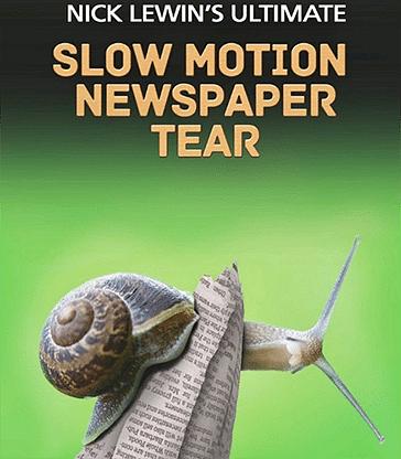 Nick Lewin's Ultimate Slow Motion Newspaper Tear - magic