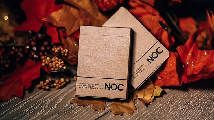 NOC on Wood Playing Cards - magic