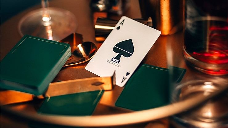 NOC Out: Green and Gold Playing Cards - magic