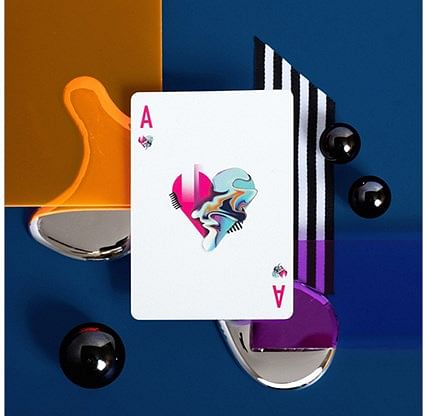 Oblique Gilded Playing Cards