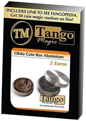 Okito Coin Box Aluminum 2 Euro - magic