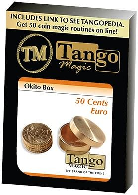 Okito Coin Box Brass 50 cent Euro - magic